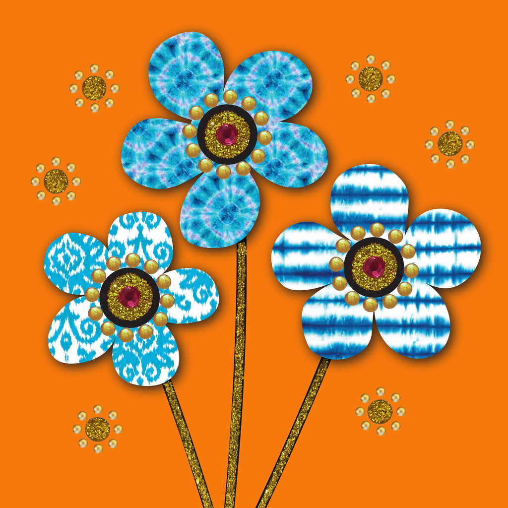 BATIK FLOWERS - S1952 (PACK OF 5)