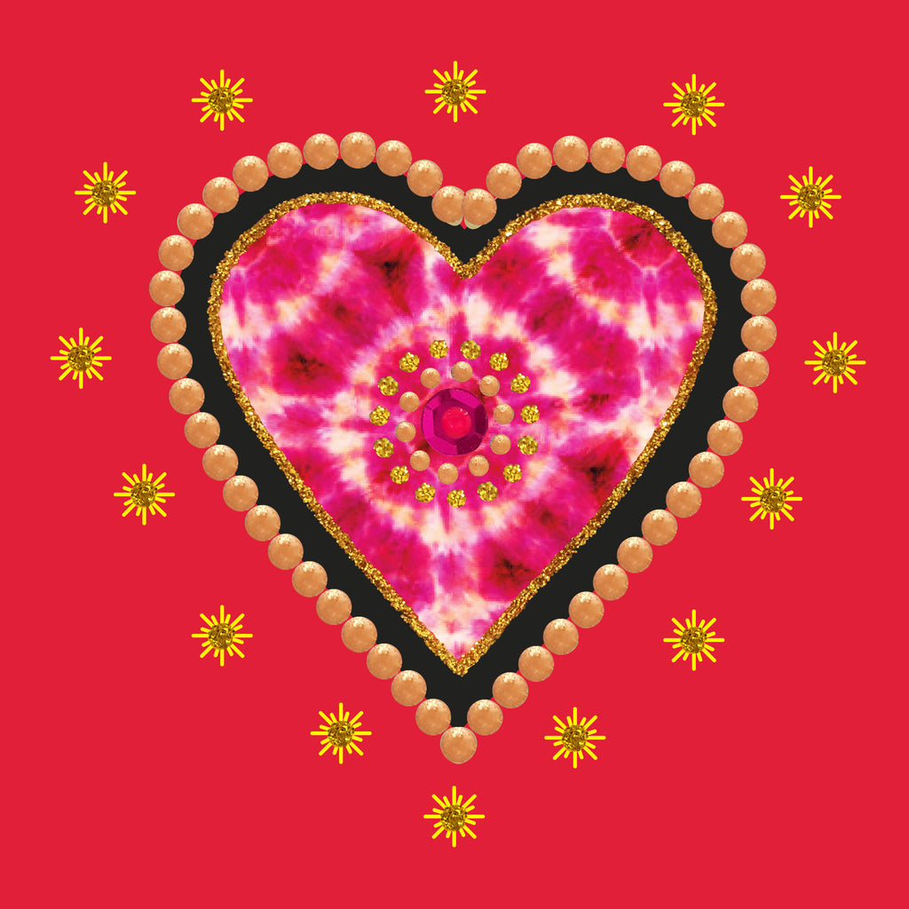 BATIK HEART - S1979 (PACK OF 5)