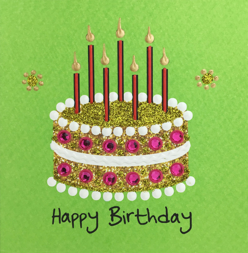 Lace Birthday Cake - N1863 (Pack of 5)