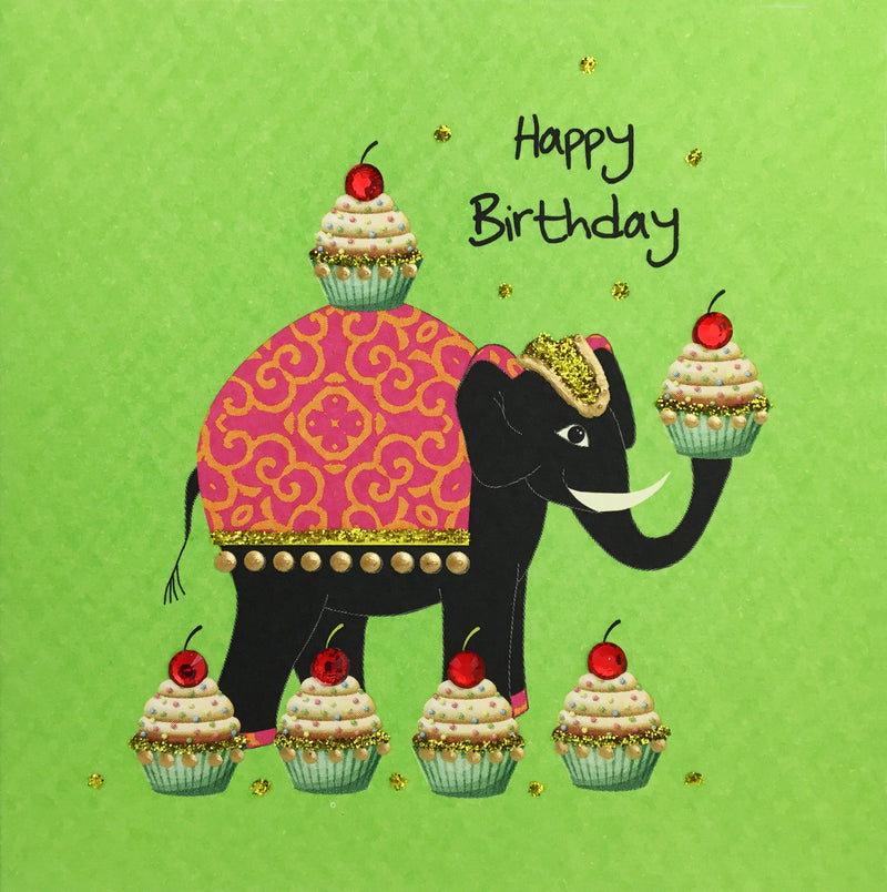 Birthday Elephant - N1655 (Pack of 5)
