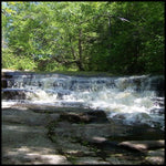 A picture of a summer waterfall on Magnetawan River, Kearney, Ontario, Canada