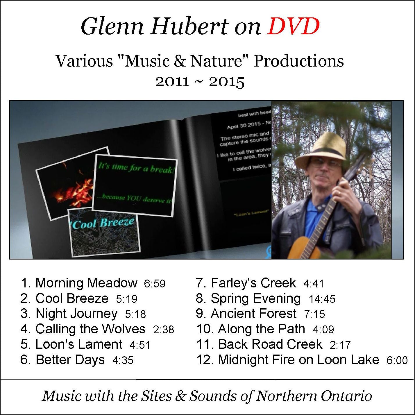 "Glenn Hubert on DVD Various ""Music & Nature"" Productions 2011 ~ 2015 - gmhCafe Store - gmhCafe Store - 1"