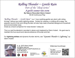 Rolling Thunder - Gentle Rain Glenn Hubert CD back