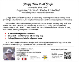 Sleepy Time Bird Scape Glenn Hubert CD back