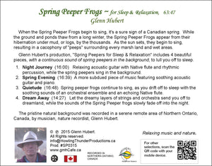 Spring Peeper Frogs for Sleep & Relaxation Glenn Hubert CD back