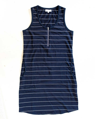 Tank Dress - Navy Stripe