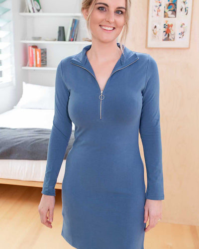 A turtle neck dress you can breastfeed in! | MOOLK