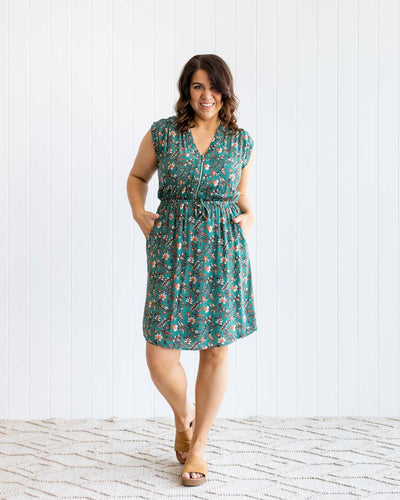 Frontier Dress - Emerald Floral