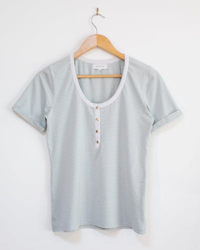 Atlas Tee - Mint Stripe