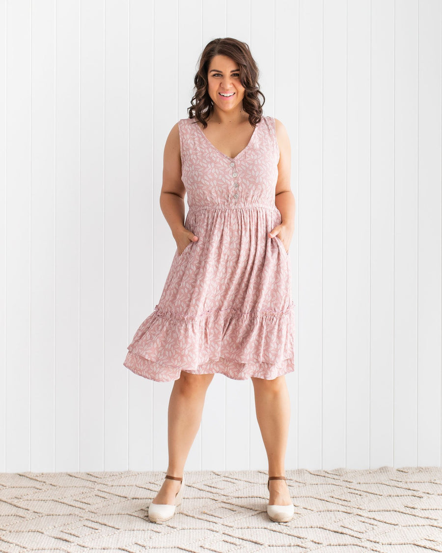 Delilah Dress - Rose Quartz