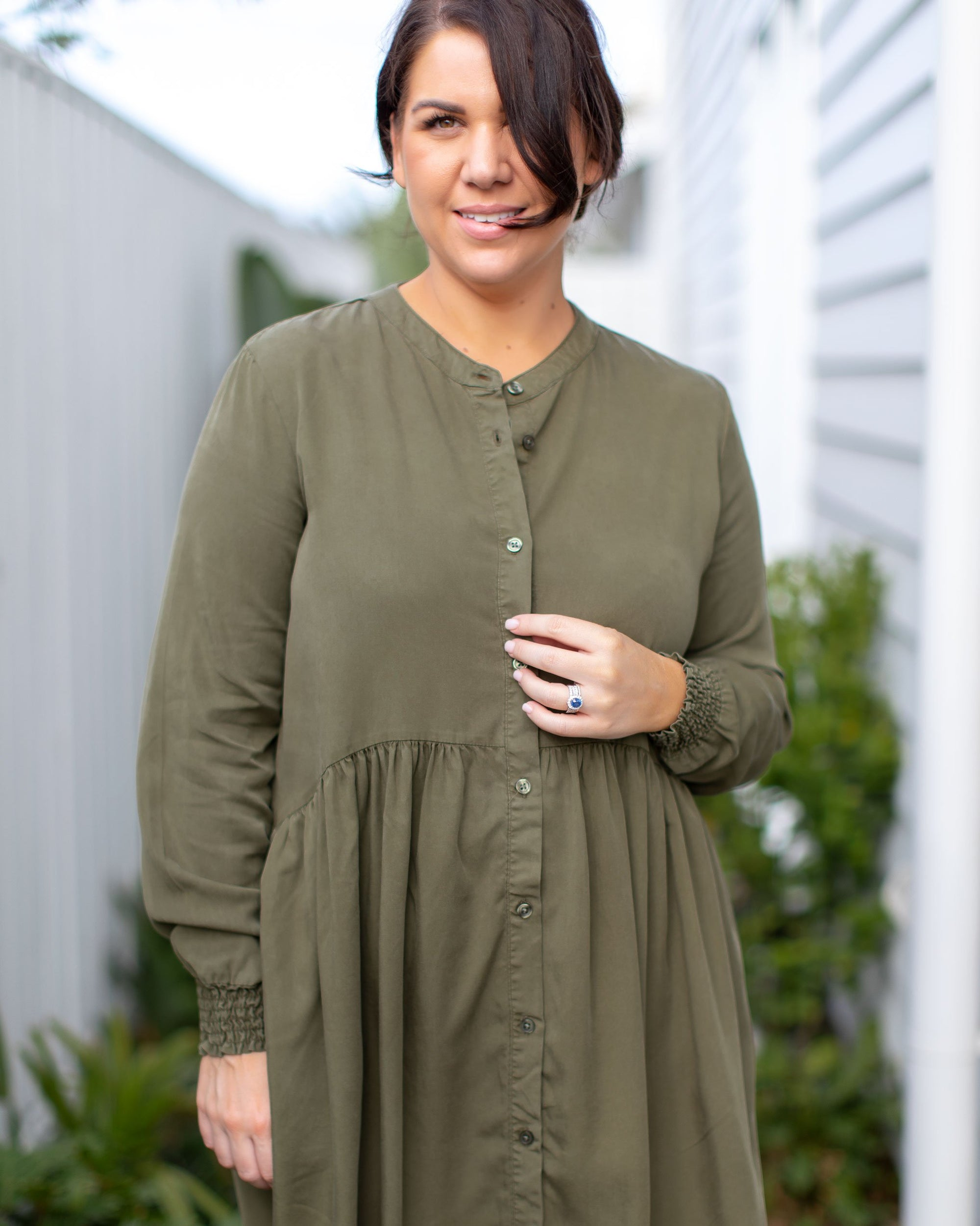 Button Front Shirt Dresses for Breastfeeding in Style  | MOOLK