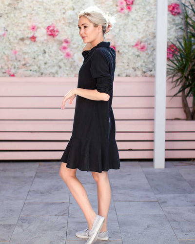 Luxe Breastfeeding Friendly Shirt Dress | MOOLK