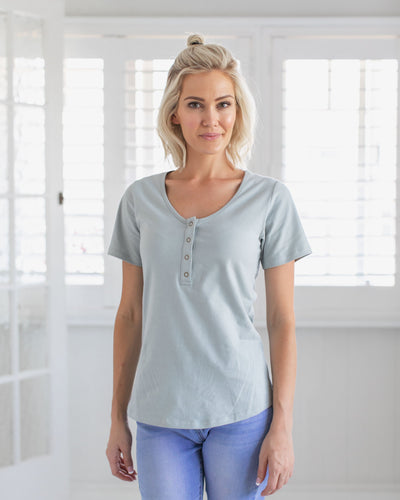 Basic Tshirt with Breastfeeding Access | MOOLK