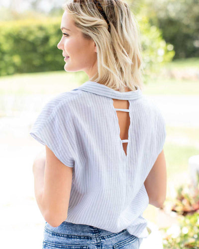 Charlotte Top - Green Stripe