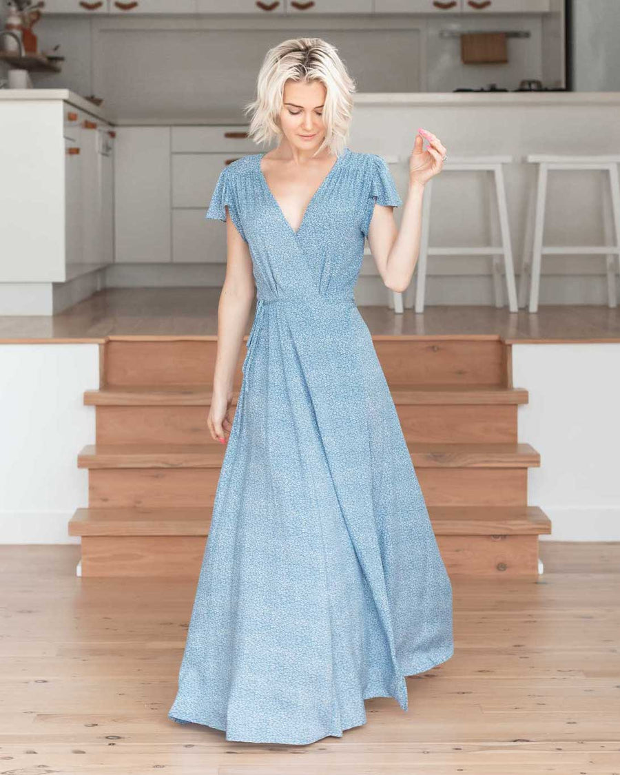 Eva Maxi Dress - Bluebell