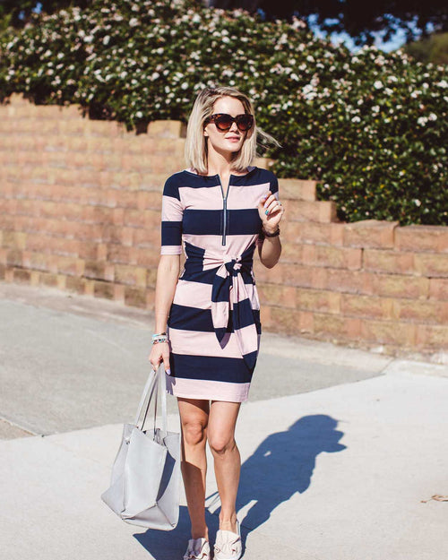 Sara Dress - Wide Stripe