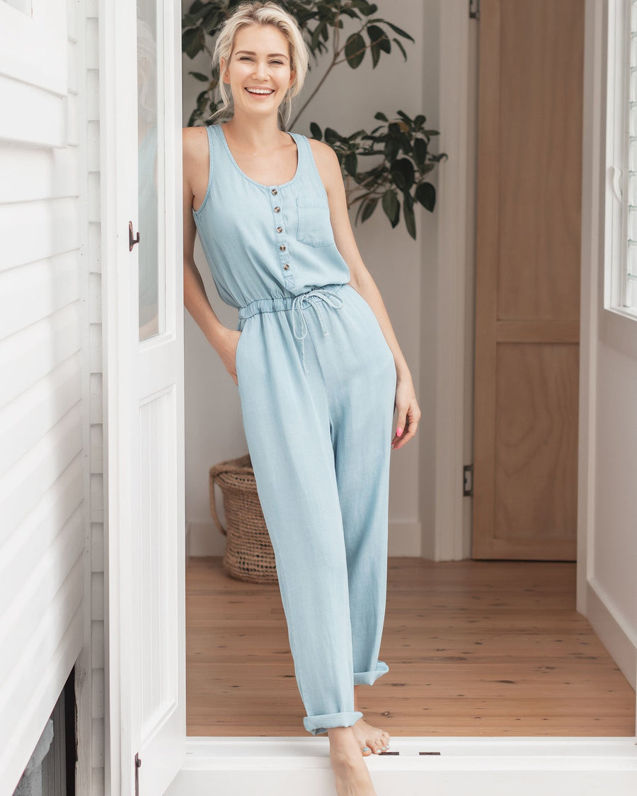 Brydie Jumpsuit - Chambray
