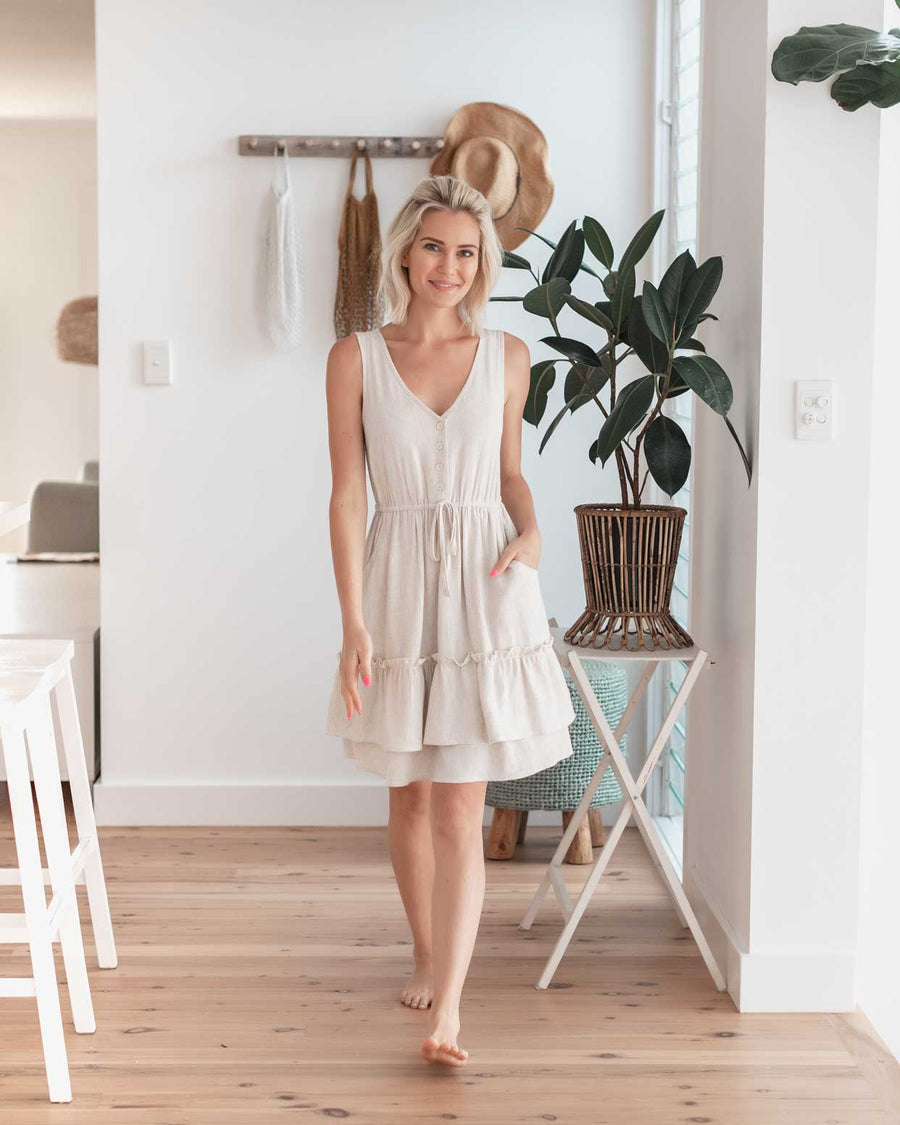Georgie Dress *Petite* - Oatmeal