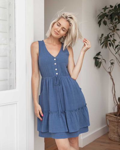 Everyday Button Front Breastfeeding Friendly Dresses | MOOLK