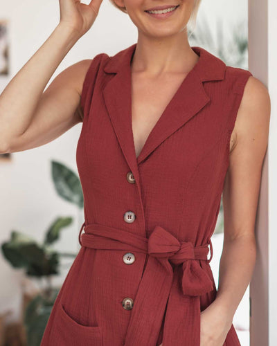 Breastfeeding Friendly Cotton Shirt Dress with Buttons | MOOLK