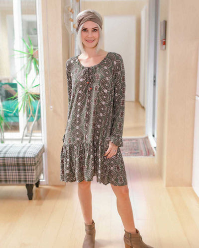 Breastfeeding Friendly Boho Dress  | MOOLK