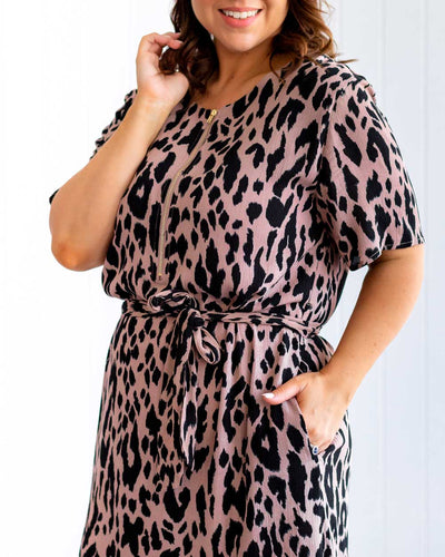 Binny Dress - Leopard