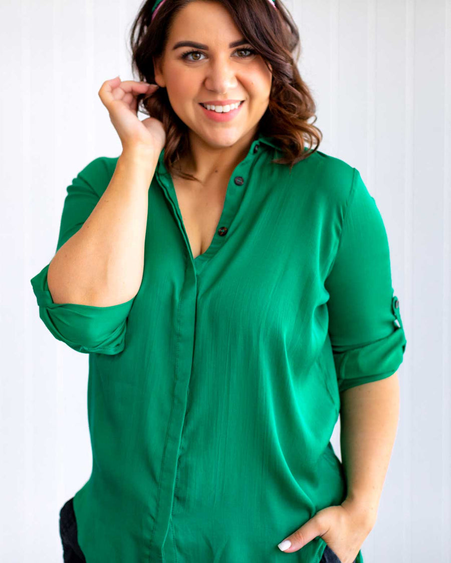 Maxine Blouse - Emerald