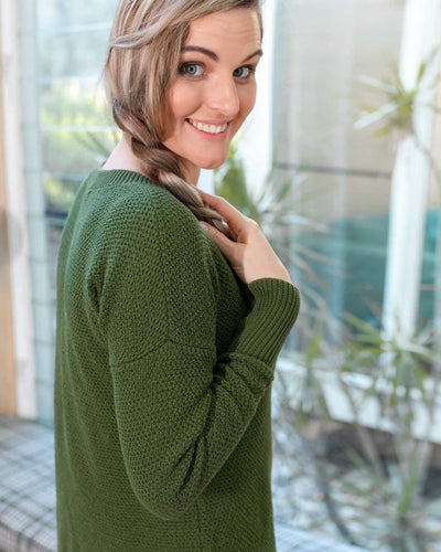 Comfortably Breastfeed in Winter with our Kempsey Knit | MOOLK