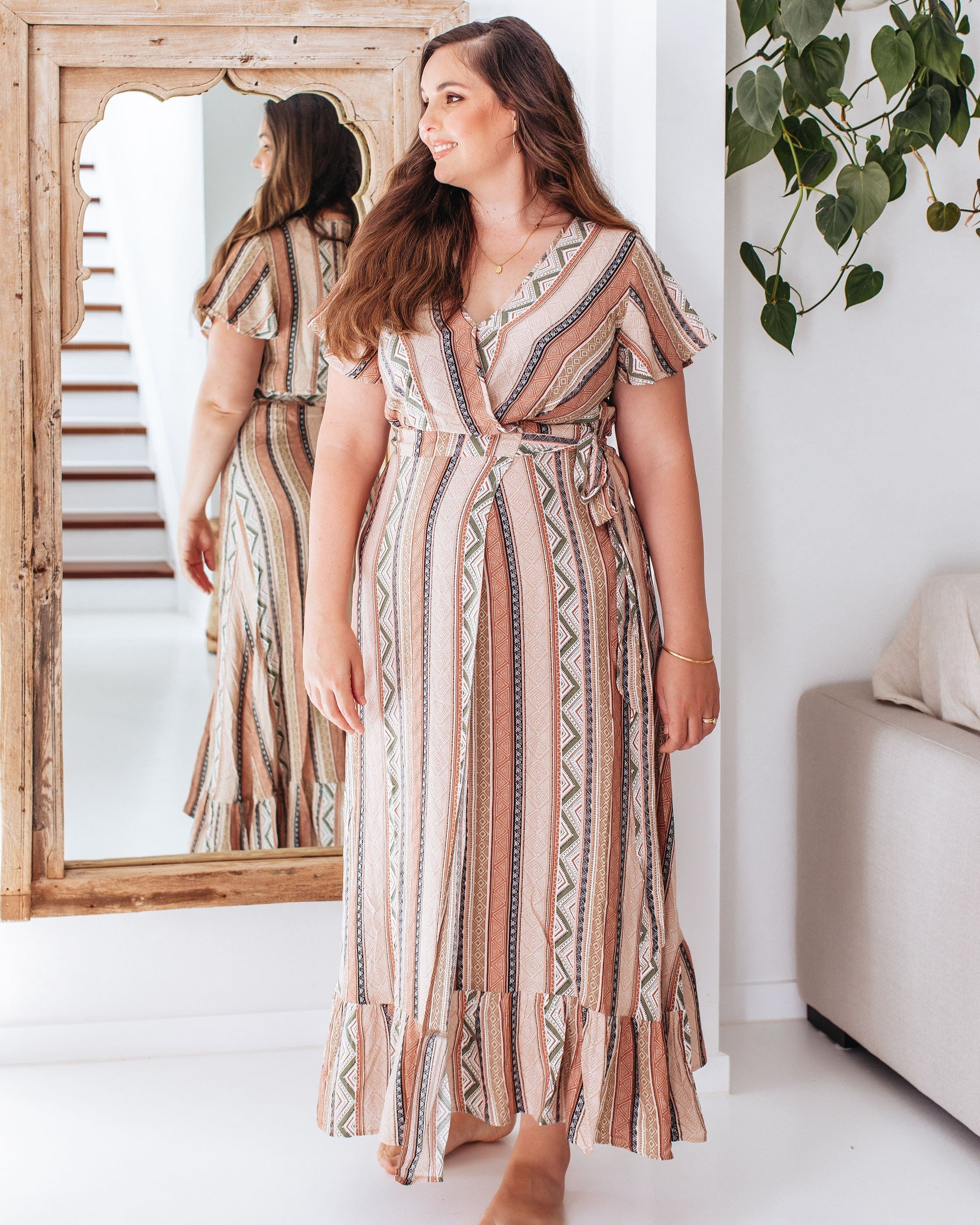 Boho Wrap Dress for  Breastfeeding   |   MOOLK