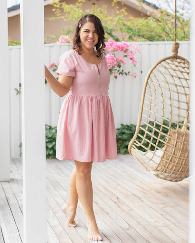 Summer Breastfeeding-Friendly Dresses with Zips | MOOLK