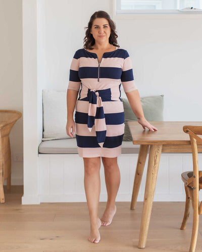 Stylish Breastfeeding Friendly Dress with Zipper | MOOLK