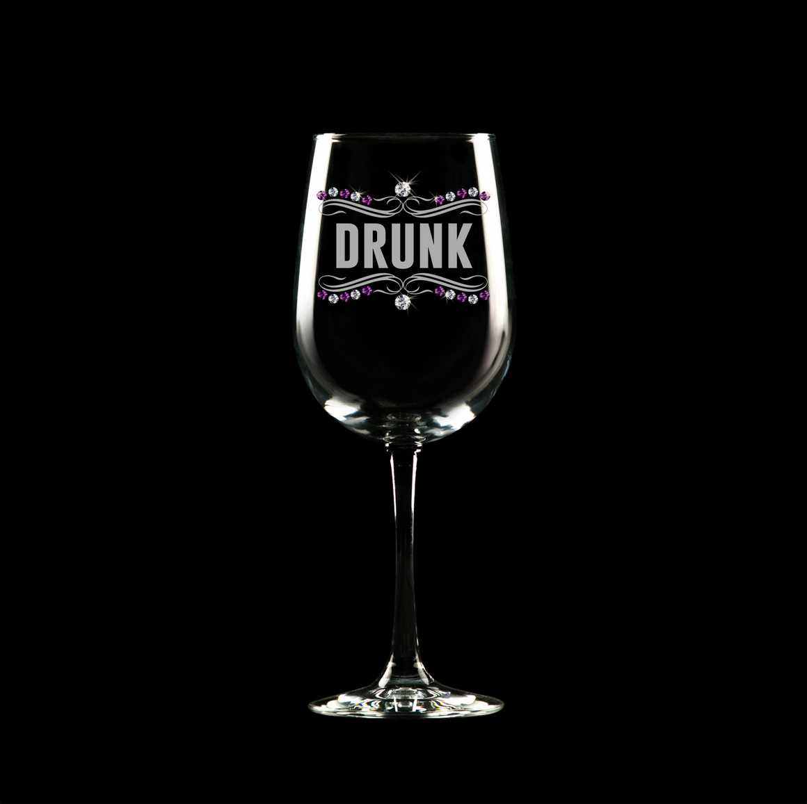 DRUNK Wine Glass