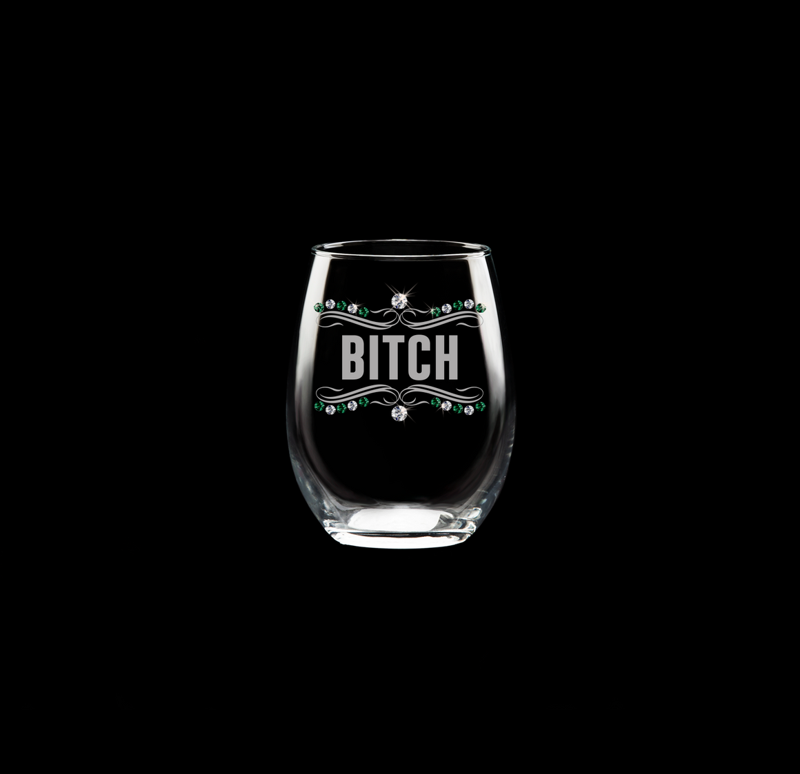 Bitch Wine Glass
