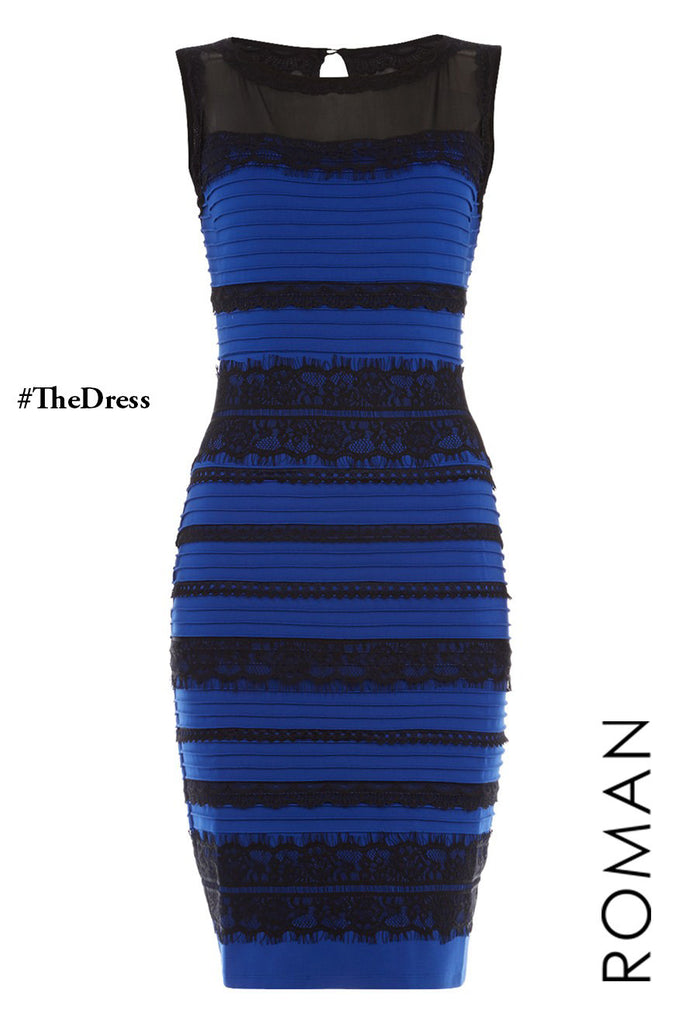 Royal-Blue #TheDress Lace Bodycon Dress