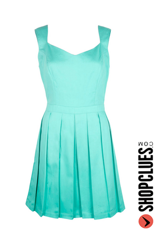 Xoxo Blue Heart Cut Out Dress