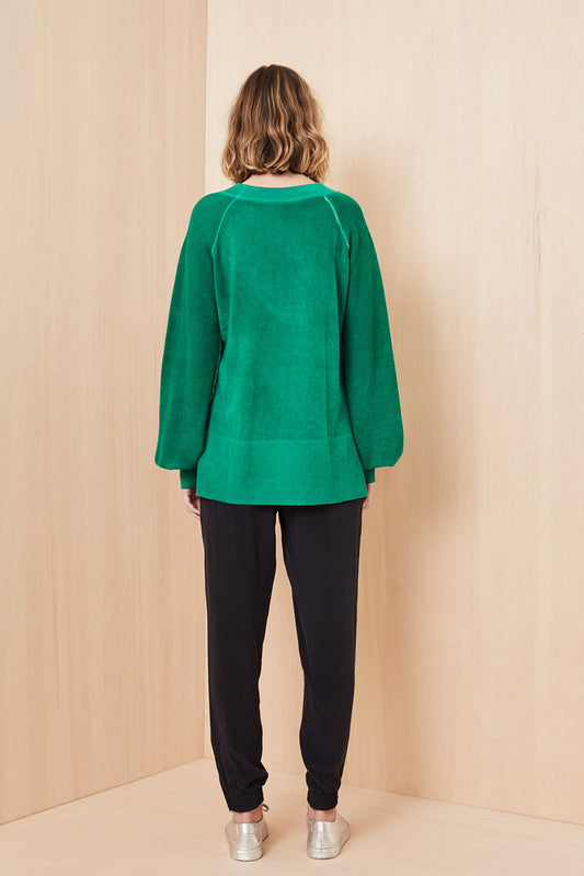 CELTIC CASHMERE JUMPER - Green