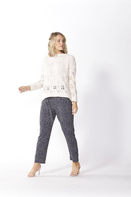 Karina Lace Knit Jumper - Pink