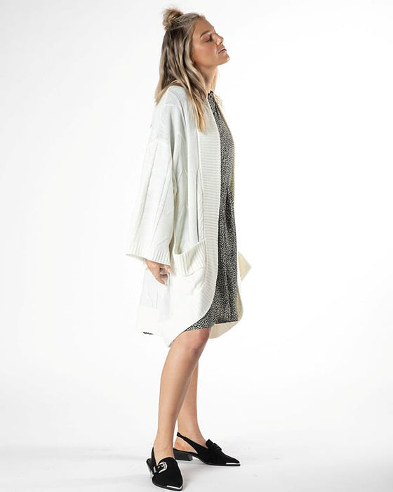 Astrid Cable Cardi - Winter White