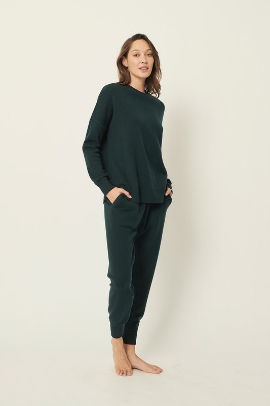 OLIVIA RELAXED KNIT - EMERALD