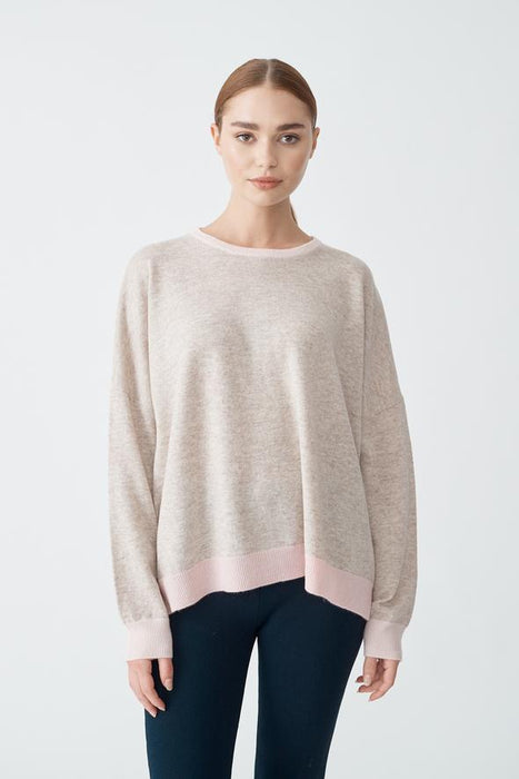 Milkshake Sweater in Porridge/Pink