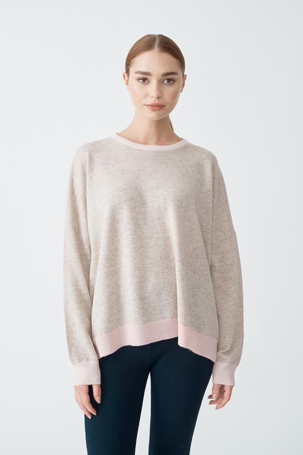 Milkshake Sweater in Porridge/Pink-ALi by ALESSANDRA