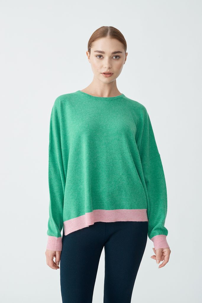 Milkshake Sweater in Pine-ALi by ALESSANDRA