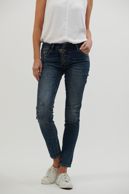 Button Jeans - Denim