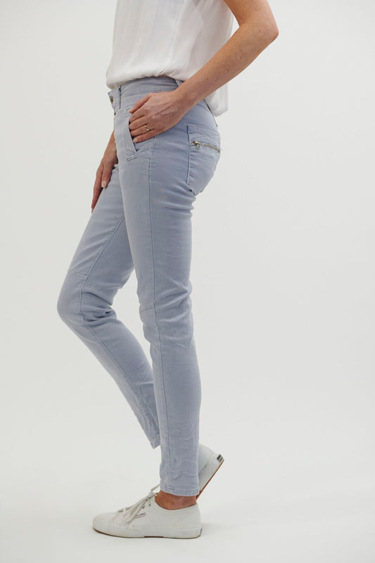 Button Jeans - Ice Blue