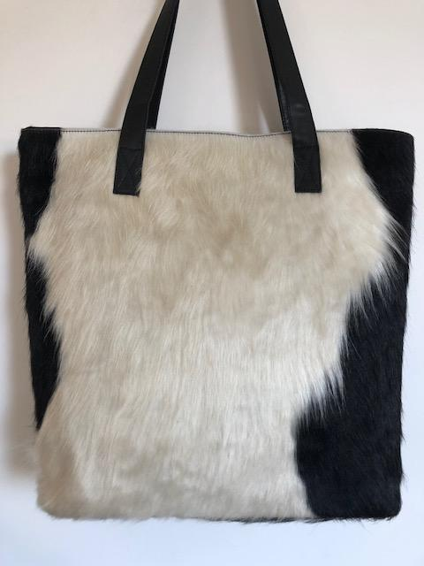BORRIS Tote- Leather Back - BARE Leather