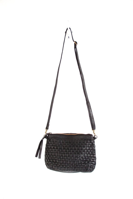 Juju & Co - Woven Pouch Bag - Black $165