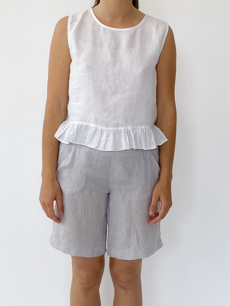 CLASSIC SHORTS IN SILVER ASH