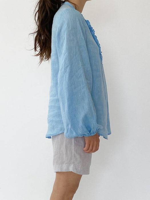 KEIRA SHIRT IN AZURE