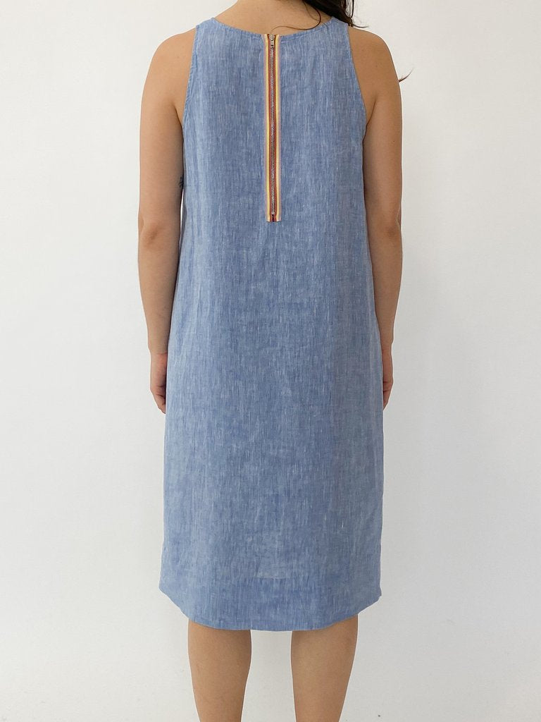 LENNA DRESS IN BLUE