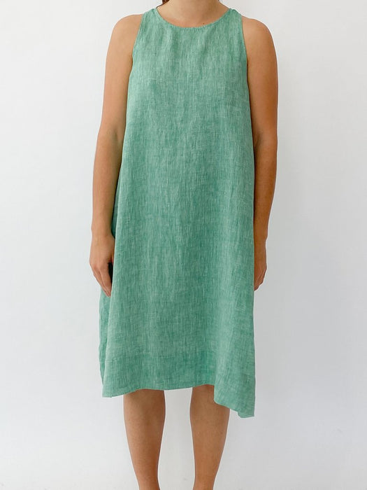 LENNA DRESS IN SNOWPEA